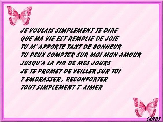 My tik poeme d 39 amour for Tu me chambres